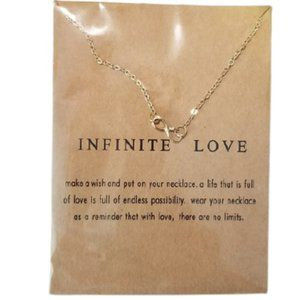 5/$25 Infinite Love Gold Color Necklace